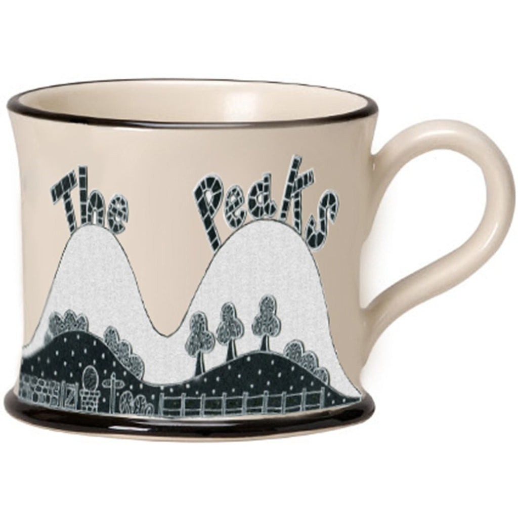 I Love the Peaks Mug by Moorland Pottery