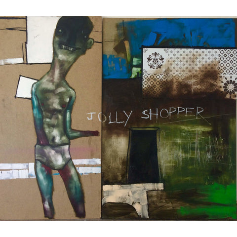 Jolly Shopper Mixed Media by Russell Gregory