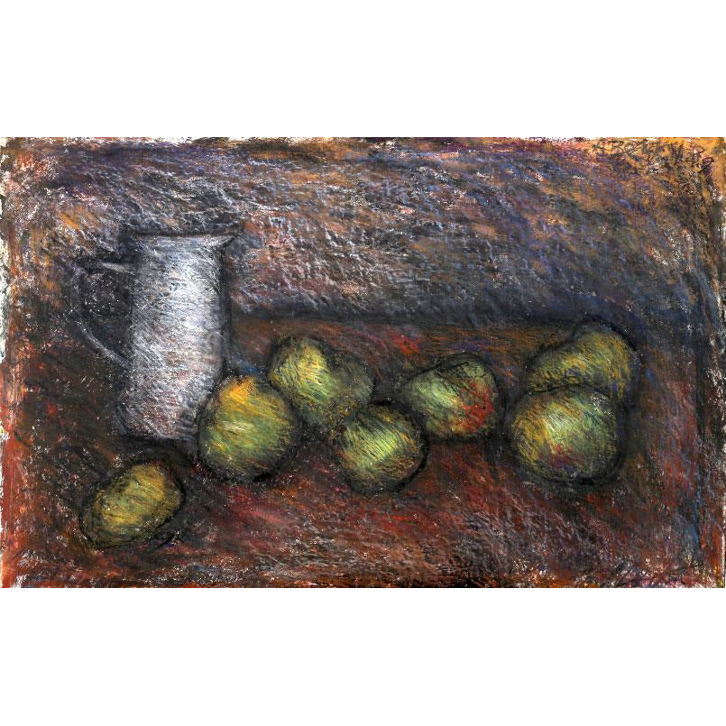 Jug and Apples Print by Arthur Berry