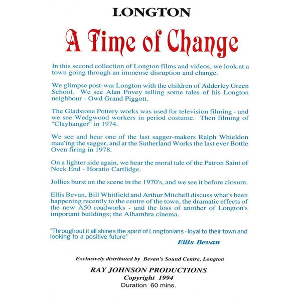 Longton - A Time of Change Stoke on Trent Historical Film DVD