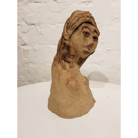 Lady with Plaited Hair Sculpture by Kate Collins