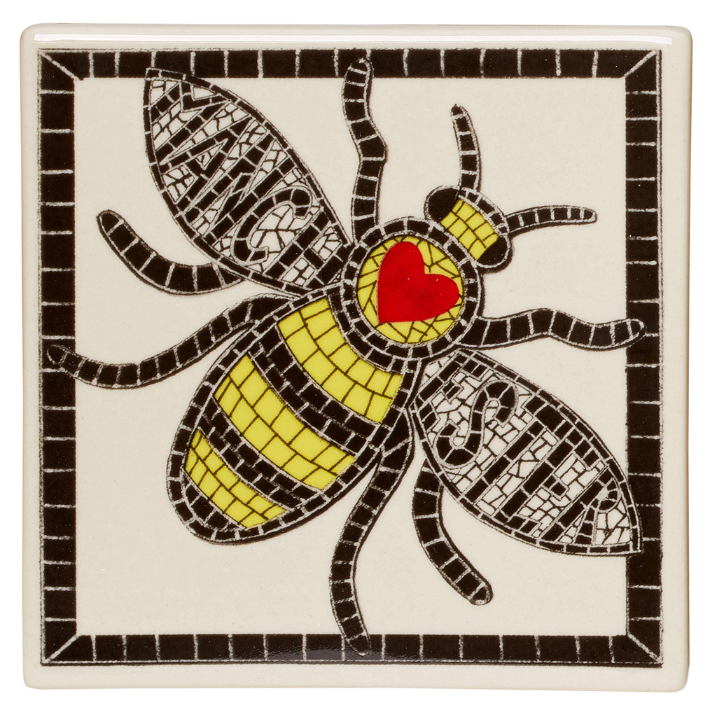 Manchester Bee Coaster by Moorland Pottery