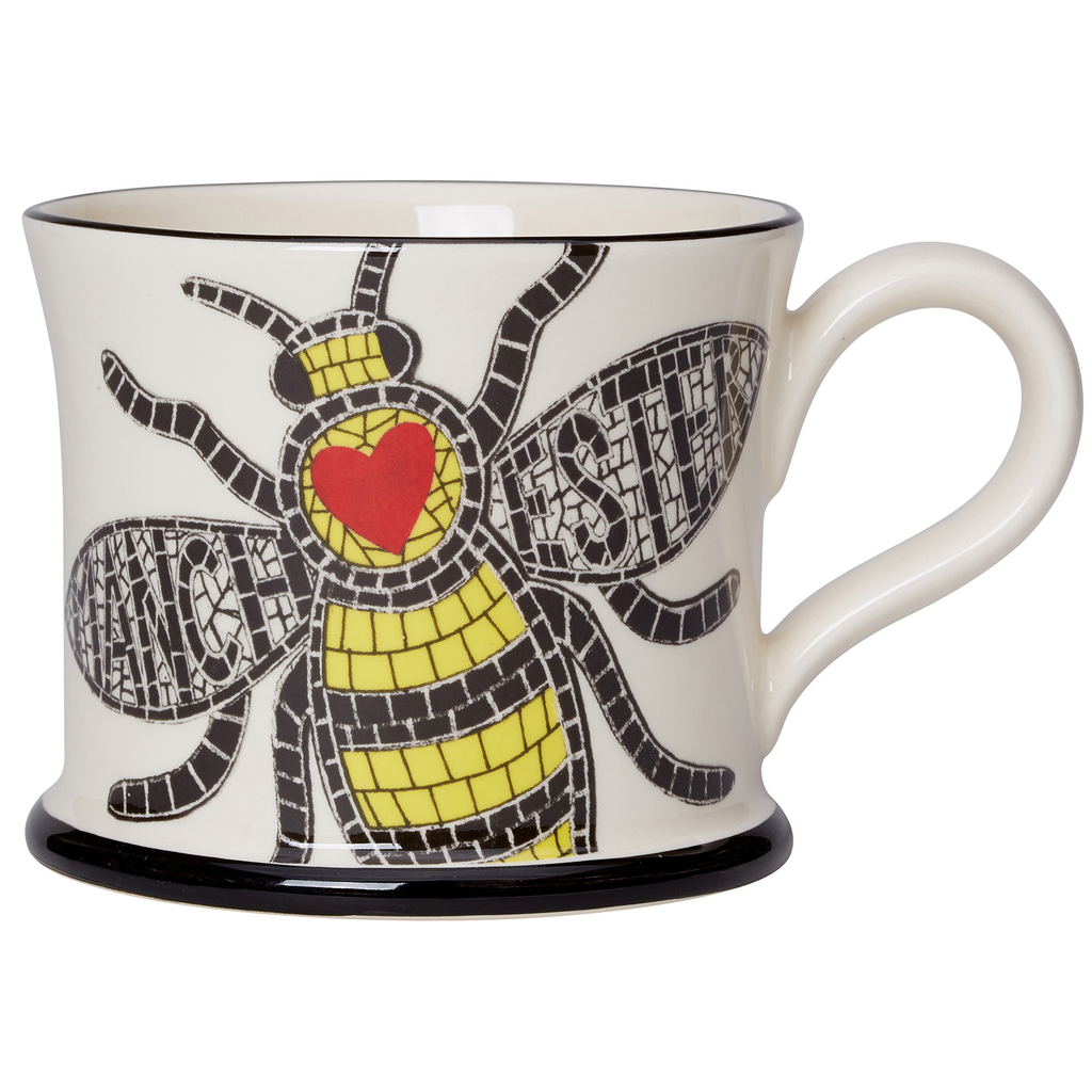 I Love Manchester Bee Mug by Moorland Pottery