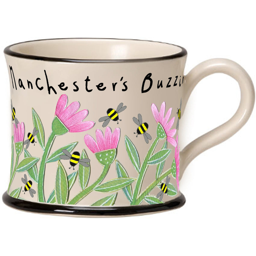 Manchester's Buzzin' Mug by Moorland Pottery