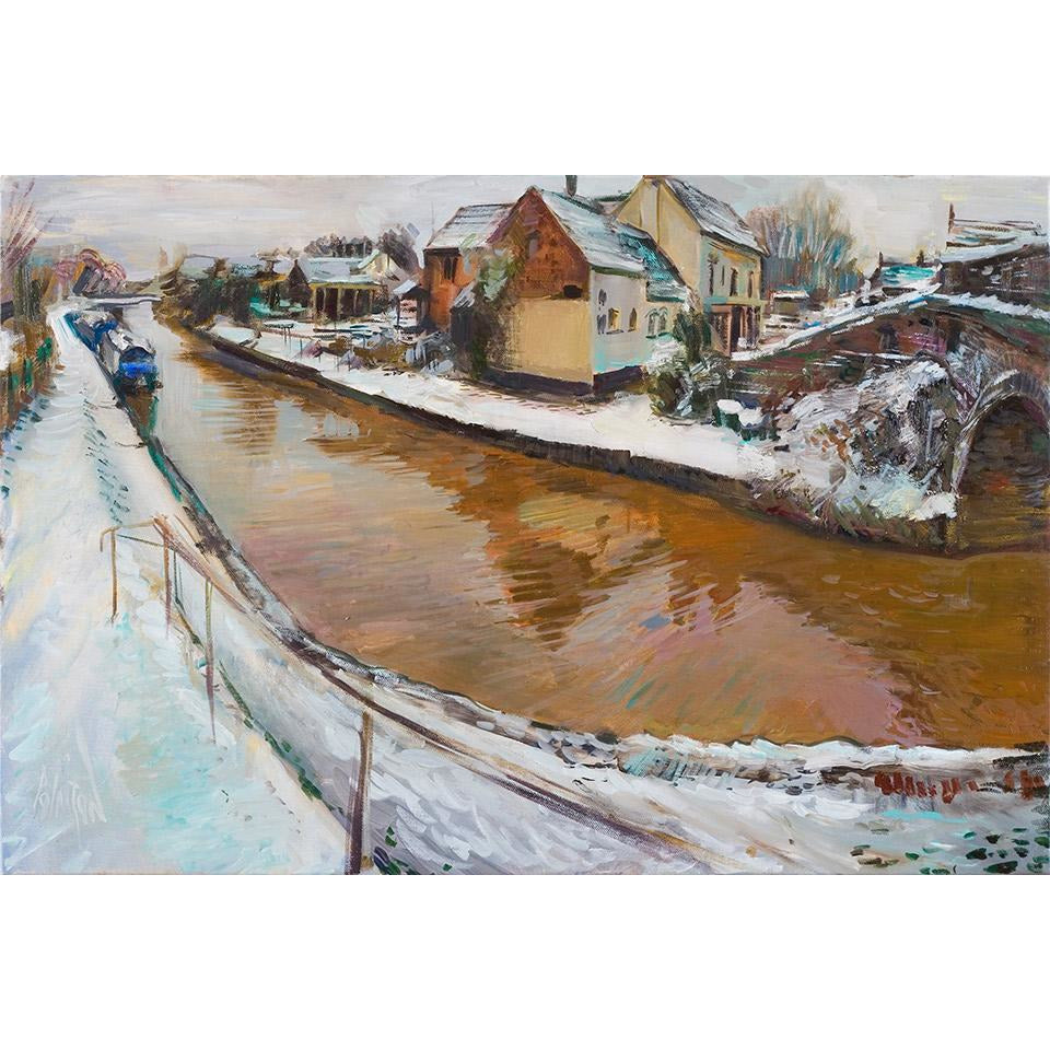 Winter scene on the Trent and Mersey, Rode Heath 2013 by Rob Pointon