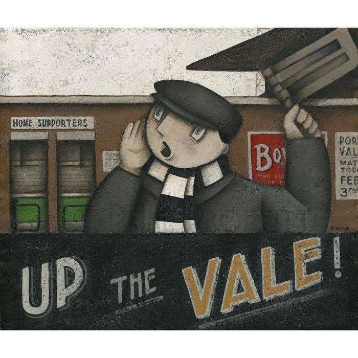 Port Vale Gift - Port Vale Up The Vale at Home Ltd Edition Signed Football Print | BWSportsArt