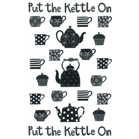 Put The Kettle On Teatowel by Moorland Pottery