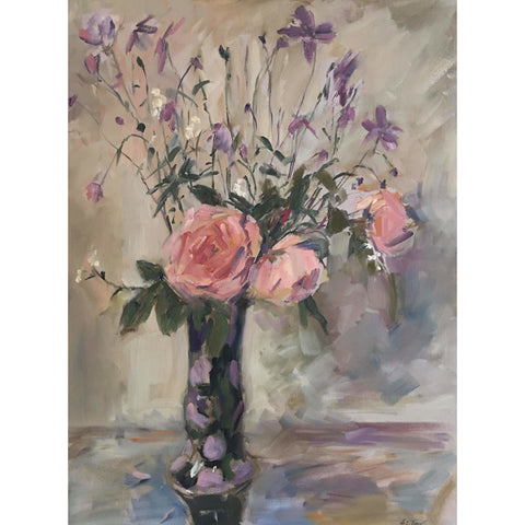 Royal Winton Vase with Roses and Anemones 2020 by Helen Tarr