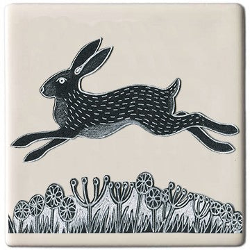 Hare Coaster by Moorland Pottery