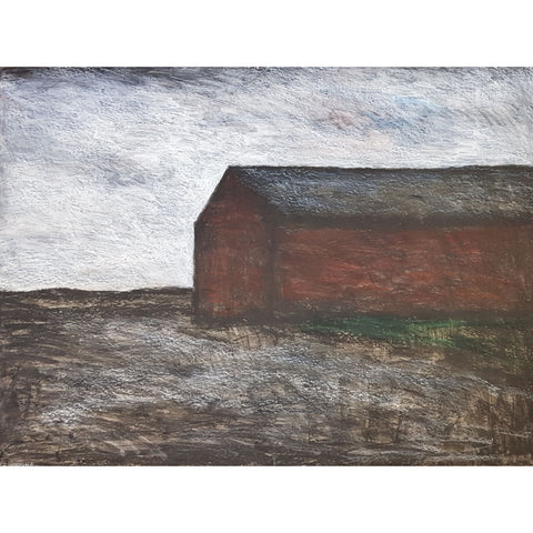 The Long Barn 1977 by Arthur Berry