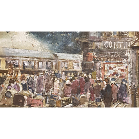 Continental Departure Watercolour by Alston Emery | Original Art by Alston Emery | Barewall Art Gallery