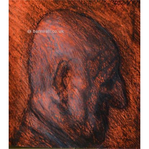 Bald Man by Arthur Berry | Original Art by Arthur Berry | Barewall Art Gallery