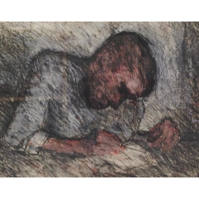 Boy Writing by Arthur Berry | Original Art by Arthur Berry | Barewall Art Gallery