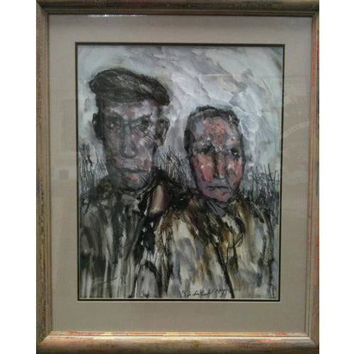 Burslem Gothic (Potteries Couple) by Arthur Berry | Original Art by Arthur Berry | Barewall Art Gallery
