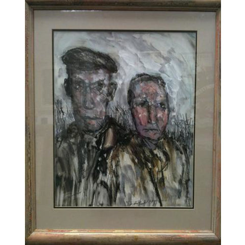 Arthur Berry Original Art Burslem Gothic (Potteries Couple) by Arthur Berry