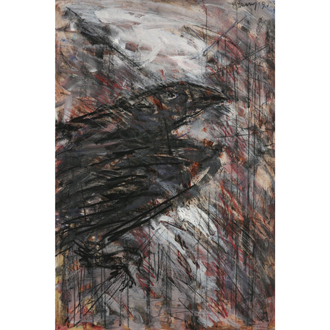 Caged Crow 1991 by Arthur Berry | Original Art by Arthur Berry | Barewall Art Gallery