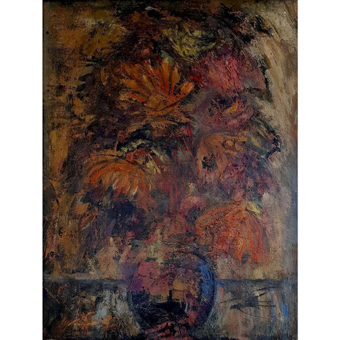 Flowers 1958 - Oil painting by Arthur Berry | Original Art by Arthur Berry | Barewall Art Gallery