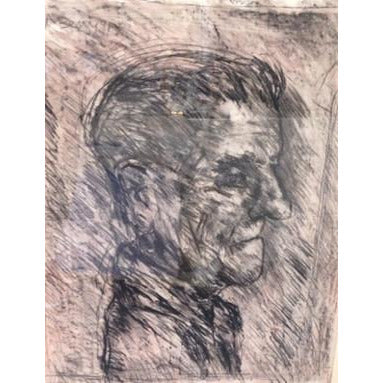 Arthur Berry Original Art Head of an Old Man 1991 by Arthur Berry