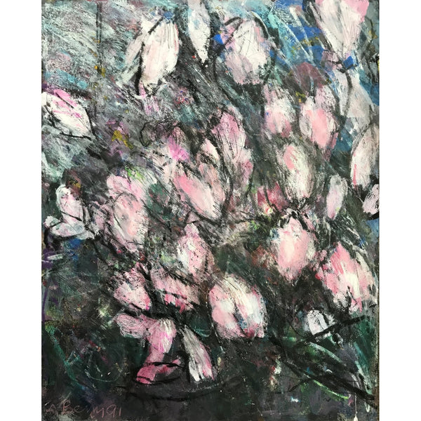 Arthur Berry Original Art Magnolias 1991 by Arthur Berry