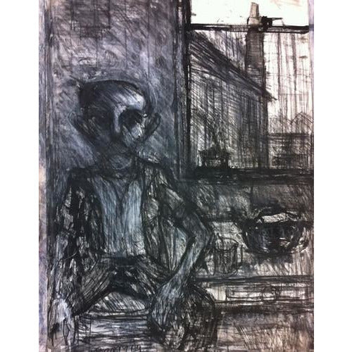 Arthur Berry Original Art Man by Window 1969