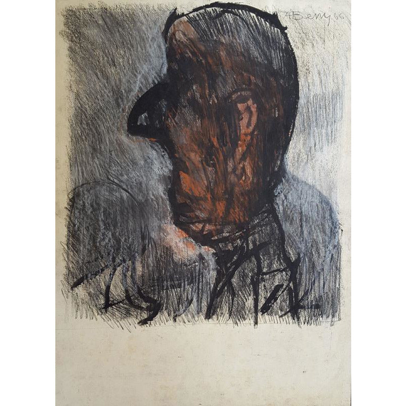 Arthur Berry Original Art Man's Head 1966 by Arthur Berry