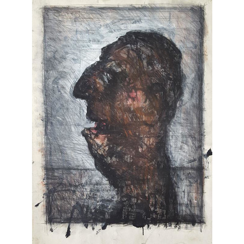 Arthur Berry Original Art Man's Head 1968 by Arthur Berry