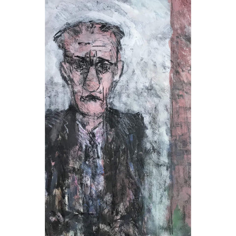 Arthur Berry Original Art Man Waiting 1993 by Arthur Berry