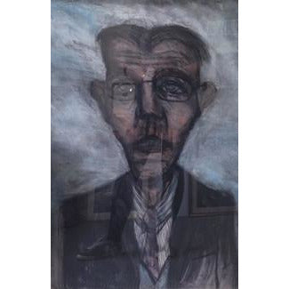 Arthur Berry Original Art Man With Spectacles
