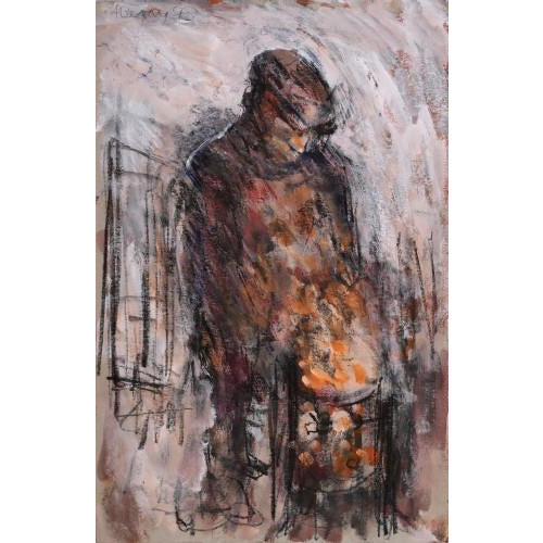 Arthur Berry Original Art Night Watchman 1993 by Arthur Berry