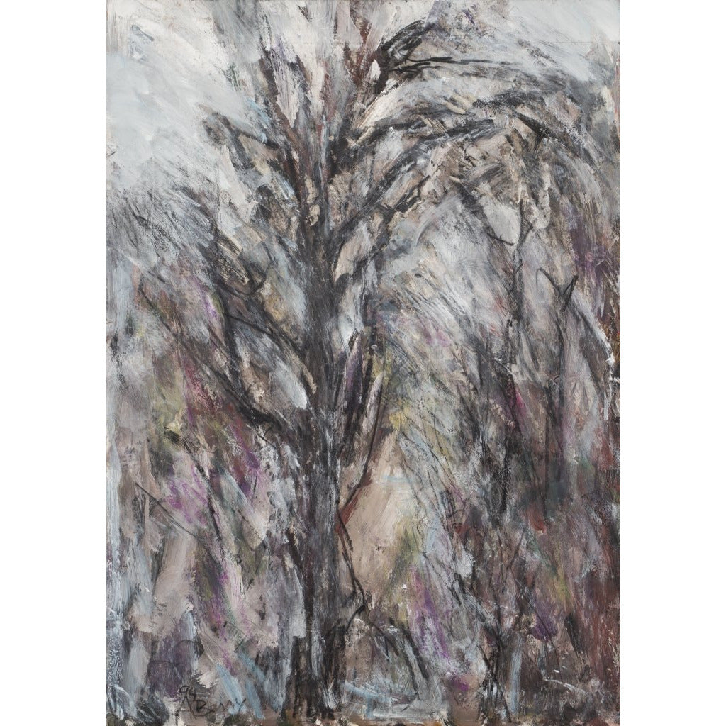 Arthur Berry Original Art Overhanging Tree 1994 by Arthur Berry