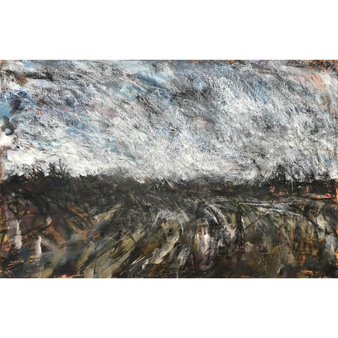 Arthur Berry Original Art Ploughed Field 1994 by Arthur Berry