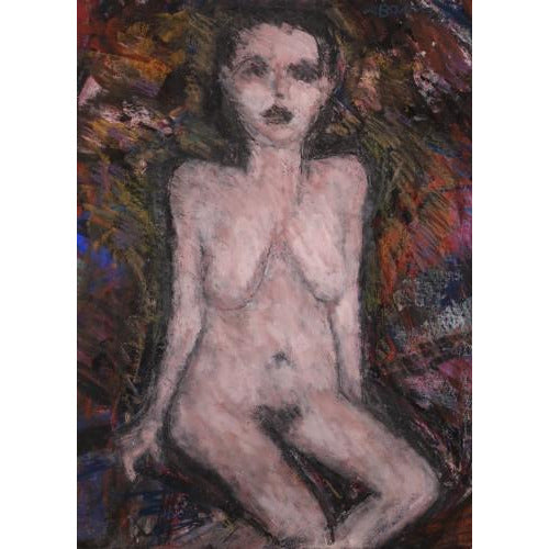 Arthur Berry Original Art Seated Nude 1980 by Arthur Berry
