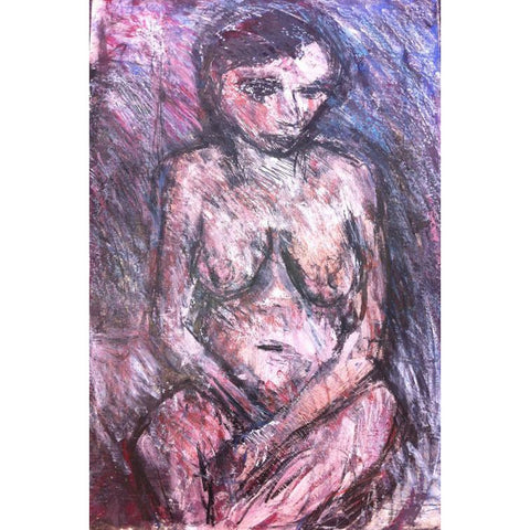 Arthur Berry Original Art Seated Nude 1986 by Arthur Berry