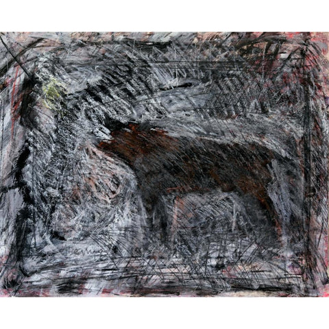 Arthur Berry Original Art Snarling Dog 1989 by Arthur Berry