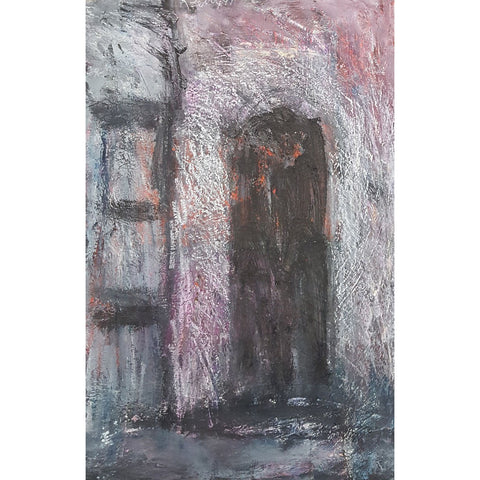 Arthur Berry Original Art The Doorway 1991 Mixed Media Painting by Arthur Berry