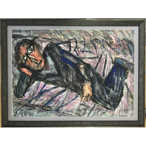 Arthur Berry Original Art The Hypochondriac 1983 by Arthur Berry