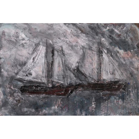 Arthur Berry Original Art Two Boats