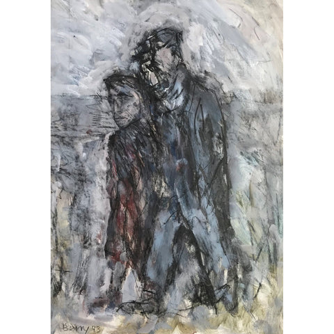 Arthur Berry Original Art Walking Couple 1993 by Arthur Berry
