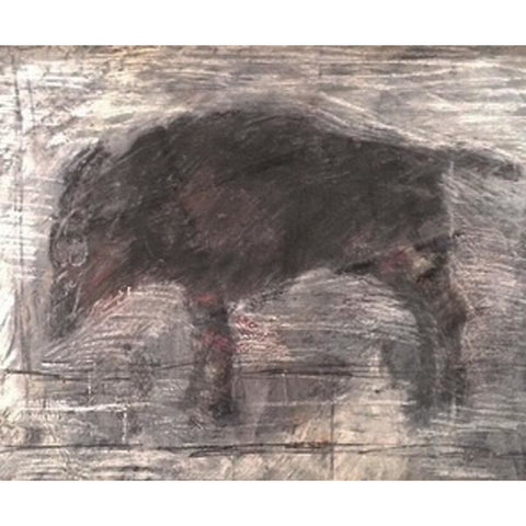 Arthur Berry Original Art Wet Dog original mixed media painting by Arthur Berry