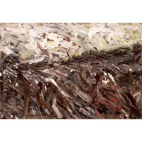 Arthur Berry Original Art Winter Furrowed Field 1994 by Arthur Berry