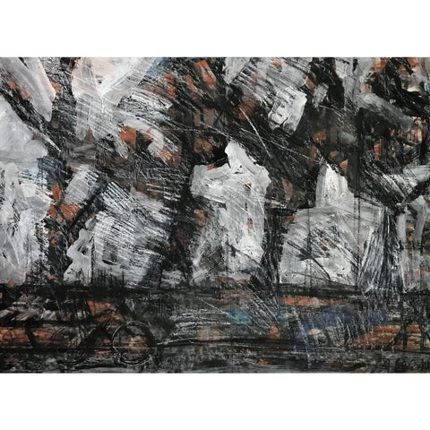 Arthur Berry Original Art Winter Trees 1962 by Arthur Berry