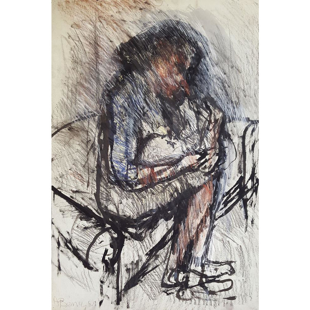 Arthur Berry Original Art Woman with Baby 1969 by Arthur Berry