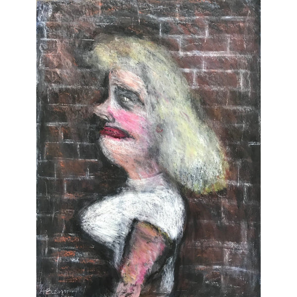 Arthur Berry Original Art Woman with Blonde Hair 1977 by Arthur Berry