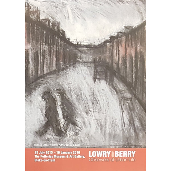 Arthur Berry Posters Street Scene 1969 A4 Lowry and Berry: Observers of Urban Life Art Exhibition Posters