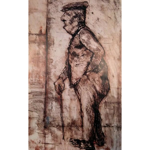 "Manchester Art House Gallery: Arthur Berry Print circa 1994 ""Old Sam"""