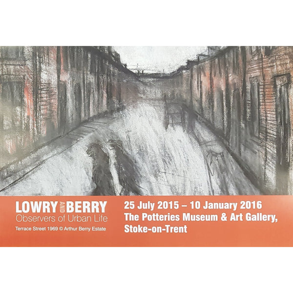 Barewall Posters Lowry and Berry: Observers of Urban Life Art Exhibition Posters