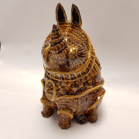 Carole Glover Ceramics CG42 Slipware Rhino Jug and Cup by Carole Glover