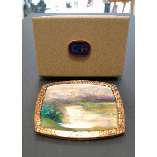 CB3 Ceramic Landscape Brooch by Cynthia Berry | Jewellery by Cynthia Berry | Barewall Art Gallery