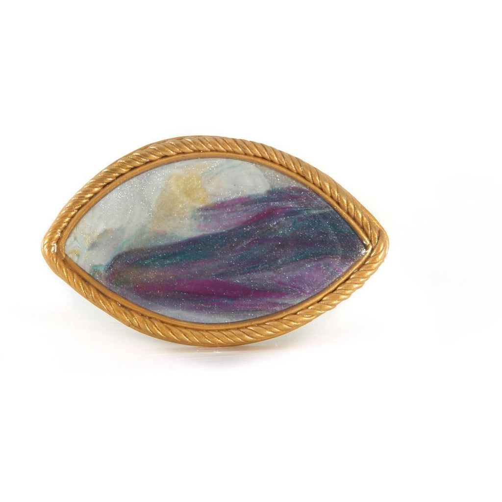 CB7 Ceramic Landscape Brooch by Cynthia Berry | Jewellery by Cynthia Berry | Barewall Art Gallery