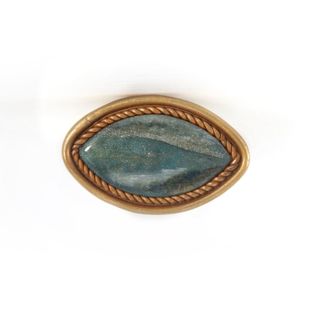 CB8 Ceramic Landscape Brooch by Cynthia Berry | Jewellery by Cynthia Berry | Barewall Art Gallery